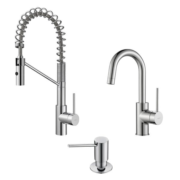 Industrial Style Kitchen Faucet: Shop KRAUS Oletto Single-Handle Commercial Style Kitchen