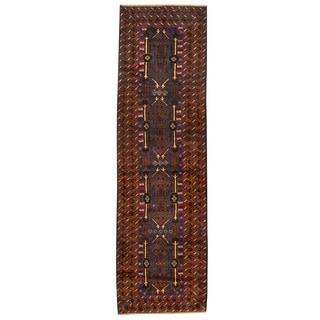 Herat Oriental Afghan Hand-knotted Tribal Balouchi Wool Runner (2'9 x 9'5)