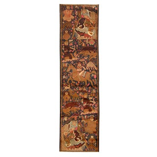Herat Oriental Afghan Hand-knotted Tribal Balouchi Wool Runner (2'4 x 9'2)