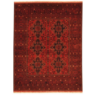 Herat Oriental Afghan Hand-knotted Tribal Khal Mohammadi Wool Rug (4'10 x 6'3)