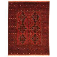 Handmade Herat Oriental Afghan Tribal Khal Mohammadi Wool Rug (Afghanistan) - 4'10 x 6'3