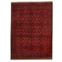 Herat Oriental Afghan Hand-knotted Tribal Khal Mohammadi Wool Rug - 5' x 6'7