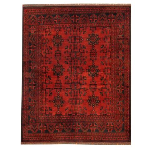 Handmade Herat Oriental Afghan Tribal Khal Mohammadi Wool Rug - 5' x 6'2 (Afghanistan)