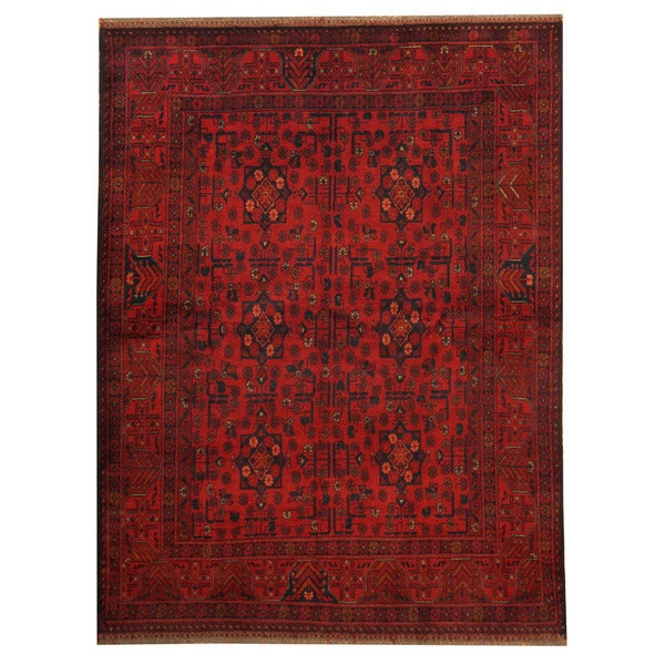 Herat Oriental Afghan Hand-knotted Tribal Khal Mohammadi Wool Rug (5' x 6'5)