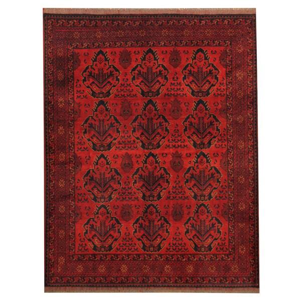 Herat Oriental Afghan Hand-knotted Tribal Khal Mohammadi Wool Rug (5' x 6'5) - 5' x 6'5