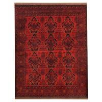 Handmade Herat Oriental Afghan Tribal Khal Mohammadi Wool Rug  - 5' x 6'5 (Afghanistan)