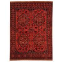 Herat Oriental Afghan Hand-knotted Tribal Khal Mohammadi Wool Rug (5' x 6'8) - 5' x 6'8