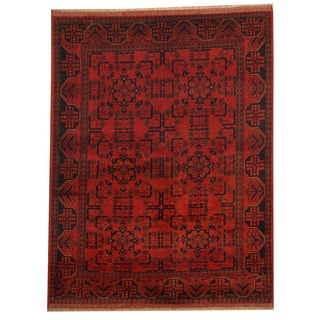 Herat Oriental Afghan Hand-knotted Tribal Khal Mohammadi Wool Rug (4'10 x 6'5)