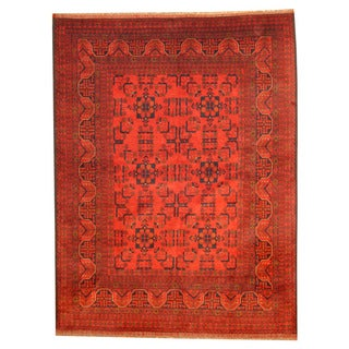 Herat Oriental Afghan Hand-knotted Tribal Khal Mohammadi Wool Rug (5'9 x 7'7)