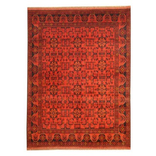 Herat Oriental Afghan Hand-knotted Tribal Khal Mohammadi Wool Rug (5'8 x 7'6)