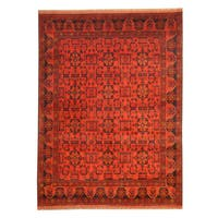Herat Oriental Afghan Hand-knotted Tribal Khal Mohammadi Wool Rug (5'8 x 7'6) - 5'8 x 7'6
