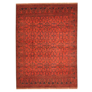 Herat Oriental Afghan Hand-knotted Tribal Khal Mohammadi Wool Rug (5'8 x 7'8)