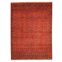 Herat Oriental Afghan Hand-knotted Tribal Khal Mohammadi Wool Rug (5'8 x 7'8) - 5'8 x 7'8