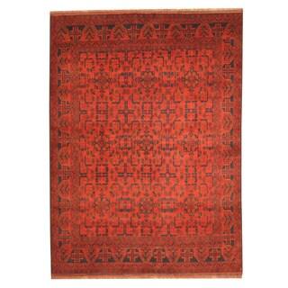 Handmade Herat Oriental Afghan Tribal Khal Mohammadi Wool Rug - 5'8 x 7'8 (Afghanistan)