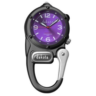 Dakota Unisex Purple Dial Mini Clip Microlight Clock