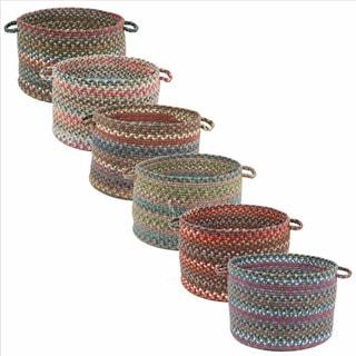 Charisma Multi-colored 18x12-inch Basket by Rhody Rug