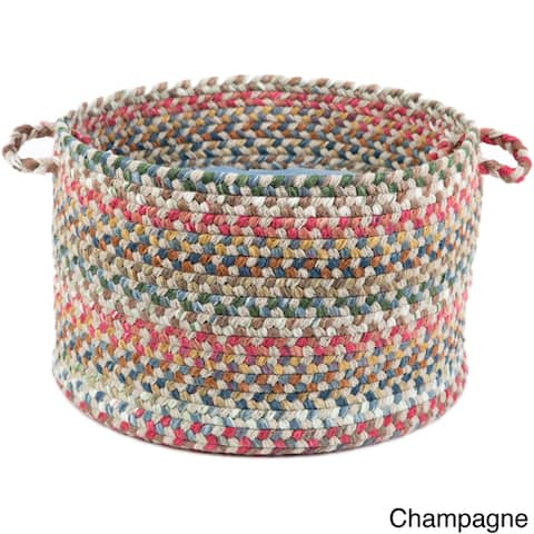 Charisma Multi-colored 18x12-inch Basket by Rhody Rug