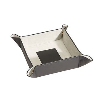 Royce Leather Luxury Suede Lined Catchall Valet Tray