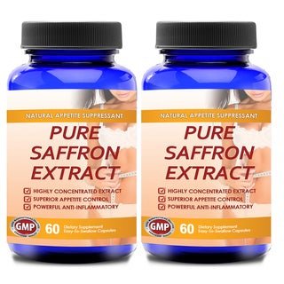 Pure Saffron Extract 100-percent Non-GMO Bottle (120 Capsules)