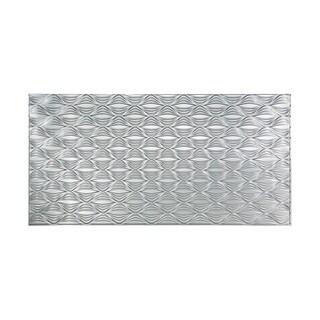 Fasade Shallot Brushed Aluminum 4-foot x 8-foot Wall Panel