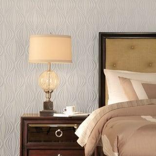 Fasade Shallot Gloss White 4-foot x 8-foot Wall Panel