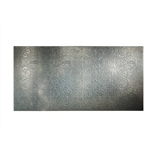 Fasade Damask Galvanized Steel 4-foot x 8-foot Wall Panel