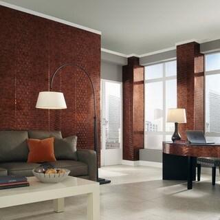 Fasade Nexus Moonstone Copper 4-foot x 8-foot Wall Panel