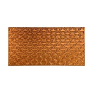 Fasade Shallot Muted Gold 4-foot x 8-foot Wall Panel