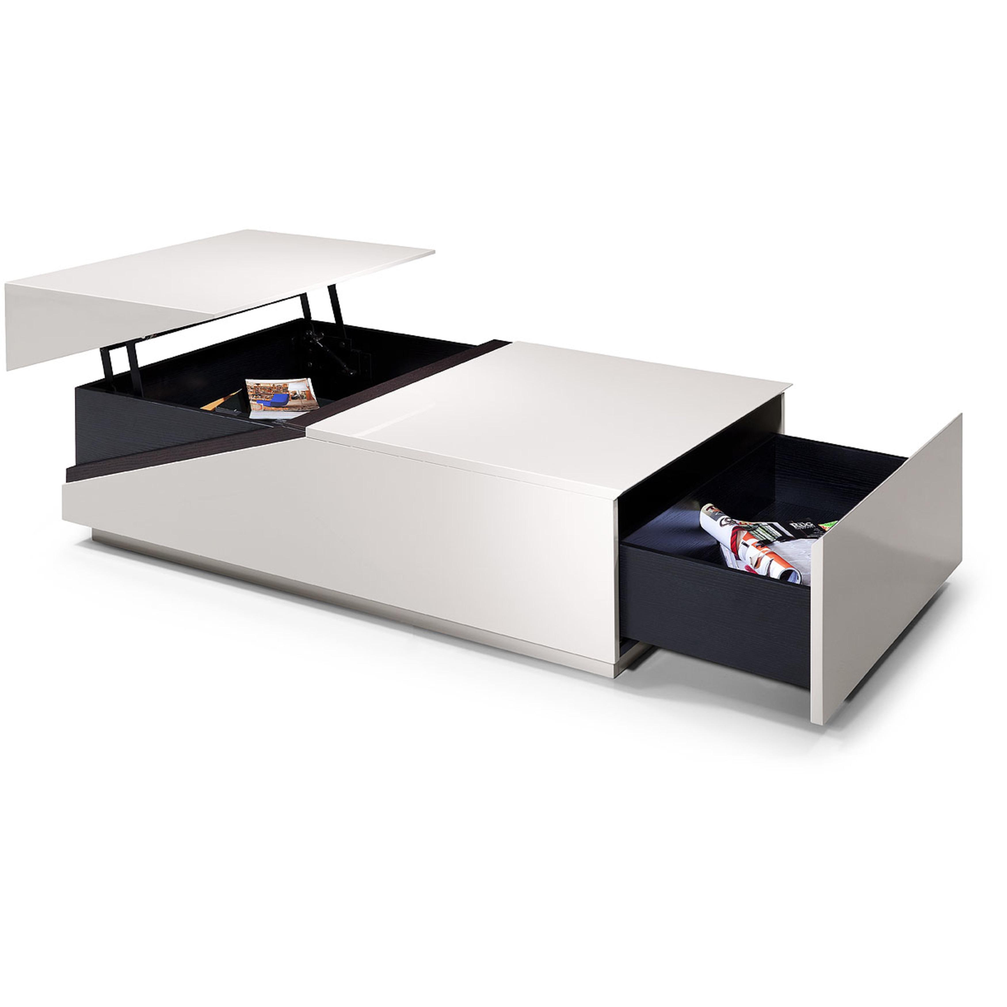 - Shop Modrest SE152A Modern Coffee Table W Storage Compartments