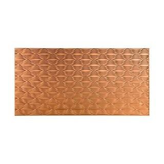 Fasade Shallot Polished Copper 4-foot x 8-foot Wall Panel