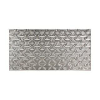Fasade Shallot Brushed Nickel 4-foot x 8-foot Wall Panel