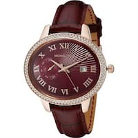 Michael Kors Women's  'Whitley' Crystal Red Leather Watch