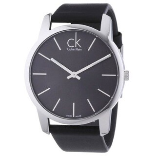 Calvin Klein Women's KOH23307 'Classic' Black Leather Watch