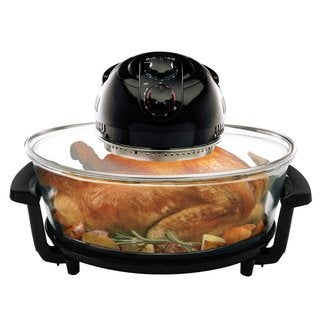 Big Boss 8861 Oval Rapid Wave Turkey Roaster, 17.5-Quart, 1300 Watt Hi-Speed-Low Energy Oven