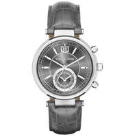 Michael Kors Women's MK2432 'Sawyer' Chronograph Crystal Grey Leather Watch