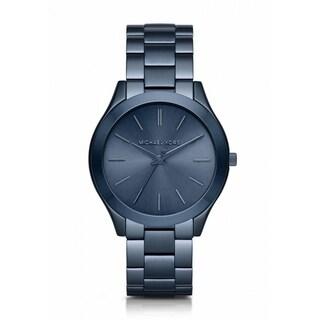 Michael Kors Women's MK3419 'Slim Runway' Blue Stainless Steel Watch