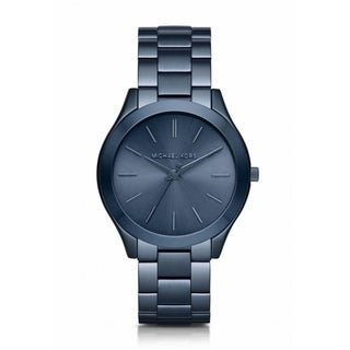 Michael Kors Women's 'Slim Runway' Blue Stainless Steel Watch