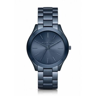 Michael Kors Women's MK3419 'Slim Runway' Blue Stainless Steel Watch