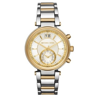 Michael Kors Women's MK6225 'Sawyer' Chronograph Two-Tone Stainless Steel Watch