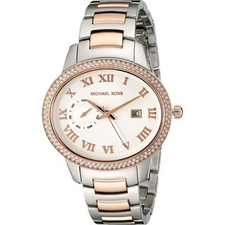 Michael Kors Women's MK6228 'Whitley' Crystal Two-Tone Stainless Steel Watch