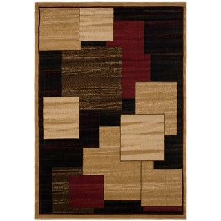 Contemporary Panes Multi-colored Area Rug (5'3 x 7'3)