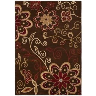 Contemporary Lauren Chocolate Area Rug (5'3 x 7'3)