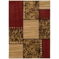 Contemporary Rawhide Leather Area Rug (5'3 x 7'3)
