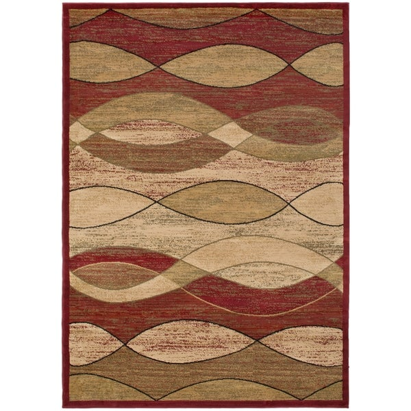 Surfboard Area Rug: Shop Contemporary Surf Claret Area Rug