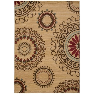 Contemporary Kaleidoscope Beige Area Rug (5'3 x 7'3)