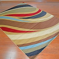 Contemporary Expressions Multi-colored Area Rug (7'10 x9'10)