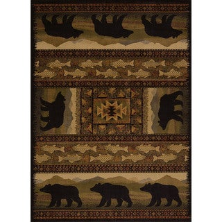 Harmony Bear Walk Lodge Area Rug (7'10 x 10'6)