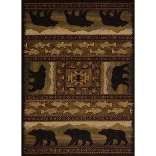 Pine Canopy Bighorn Bear Runner Rug (1'10 x 7'2)