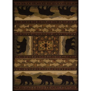 Harmony Bear Walk Lodge Area Rug (5'3 x 7'2)