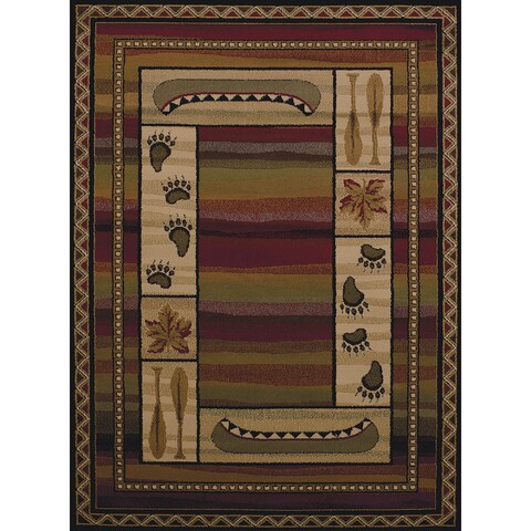 Copper Grove Bellflower Oars & Canoe Area Rug - 5'3 x 7'2